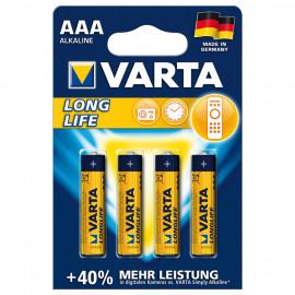 Batterie, LONGLIFE, Alkaline, Micro, LR03, AAA, 1,5V - Varta