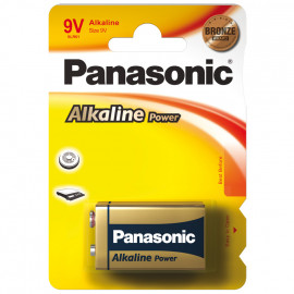 Batterie, POWER, Alkaline, Block, 6LR61AP, 9V  - Panasonic