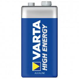 Batterie, HIGH ENERGY, Alkaline, Block, 6LR61, 9V - Varta