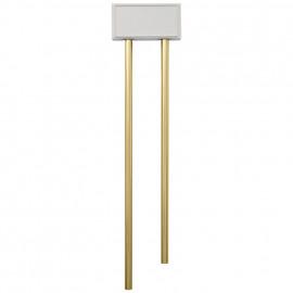 Röhren-Gong, Doppelklang, 8-12V oder für 4 Mono Batterien, weiß  Bittorf