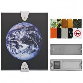 Funk Gong mit Funk Taster, MISTRAL 600 / LED Blitzlicht, silber Acrylglasfront Fotoeinlagen