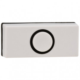 Klingeltaster Aufputz, 24V/1A, Kunststoff weiß Breite 55 mm, Höhe 25 mm, Tiefe 15 mm