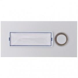 Klingeltaster Unterputz, Frontplatte Aluminium eloxiert, 1 Taster, mit Unterputz-Dose