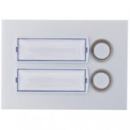 Klingeltaster Unterputz, Frontplatte Aluminium eloxiert, 2 Taster, mit Unterputz-Dose