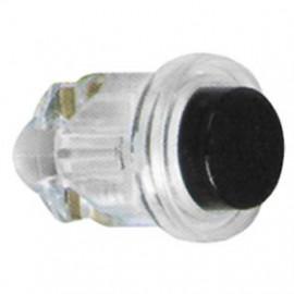 Klingeltaster Einbau, D642,  Kunststoff, transparent / schwarz, Ø 16 mm Friedland