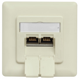 Anschlussdose UAE CAT 6 für Datenübertragung bis 500 MHz, Unterputz, Abdeckung weiß, Klein