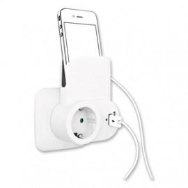 Akku Ladegerät mit USB Adapter mit Schutzkontaktsteckdose