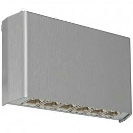 Patch Panel Cat 6, Aufputz, für anwendungs neutrale Verkabelung, 6-fach, Rutenbeck, grau