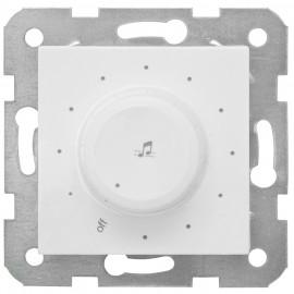 Lautsprecherregler Kombi, 3 - 1200 Ohm, 5V, mit Zentralplatte 50 x 50 mm, reinweiß, Viko