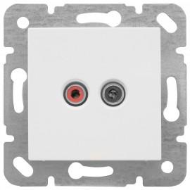 Lautsprecher Kombi, Stereo, mit Zentralplatte 50 x 50 mm, MERIDIAN reinweiß