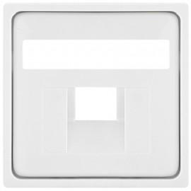 Zentralplatte für 1 fach UAE Steckdose, KLEIN® K55 reinweiß