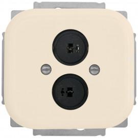 Schaltereinsatz Lautsprechersteckdose, Kombi KLEIN LX® weiß