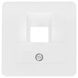 Zentralplatte KLEIN® K50 reinweiß für 1 fach UAE Steckdose, 50 x 50 mm
