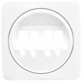 Zentralplatte für Lautsprechersteckdose, ultraweiß, LEGRAND CREO