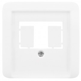 Zentralplatte für 1 bis 3 fach - TAE - Steckdose, ultraweiß, LEGRAND CREO