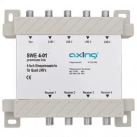 Einspeiseweiche für Quad LNBs, 4 fach, Axing SWE 4-01 Axing