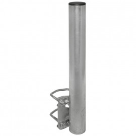 Balkon Geländerhalter für Offsetspiegel, Stahl feuerverzinkt Rohr Nutzlänge 500 mm