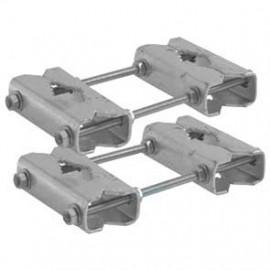 Rohrverlängerung/ Geländerhalter, Set für Rohre bzw. Geländer bis Ø 60 mm