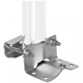 Mastfuß für Rohr Ø 30 - 60 mm  bodenfrei für Kabeldurchführung