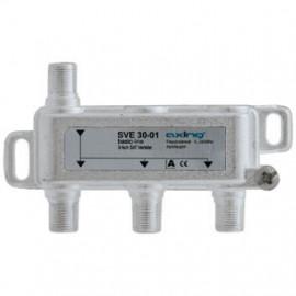 BK / SAT Verteiler 3 fach für Breitband Anlagen und SAT Anlagen Axing
