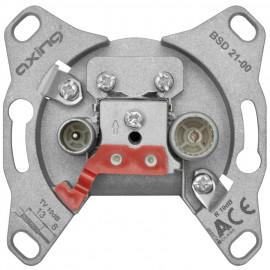 BK Antennensteckdose, BSD 21-00 Einzel und Stichleitungsdose (2 Ausgänge) Axing