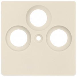 Zentralplatte KLEIN® K55 weiß für TV / Radio / SAT Antennensteckdose