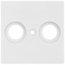 Schaltereinsatz Zentralplatte für TV / Radio Antennensteckdose, KLEIN® K55 reinweiß