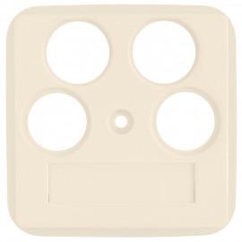 Zentralplatte für SAT Antennensteckdose, KLEIN SI® weiß