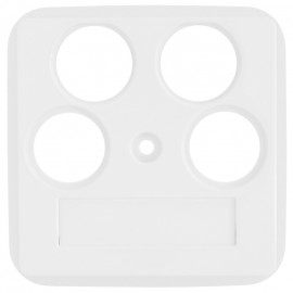 Zentralplatte Schalterprogramme für für SAT Antennensteckdose, 4 Loch