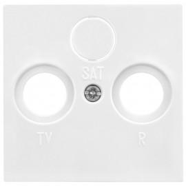 Zentralplatte Antennensteckdose für TV / Radio / SAT SYSTEM 55 reinweiß glänzend