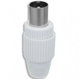 Antennenstecker Kunststoff weiß schraubbar