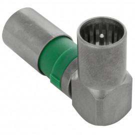 Winkel Kompressions Stecker, Klasse A nach EN50083-2/A1 - F-QUICKFIX 100-48  Axing