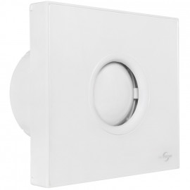 Wand -/ Deckeneinbaulüfter, mit Nachlaufschalter für Rohre Ø 100 mm, Blende weiß