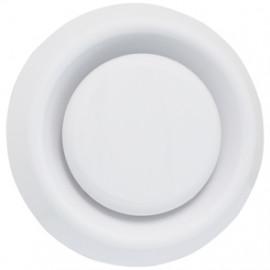 Abluft Tellerventil, für Rohr Ø 100, Kunststoff weiß