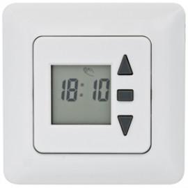 Zeitschaltuhr Rolladen, Unterputz, Tagesprogramm LCD-Anzeige