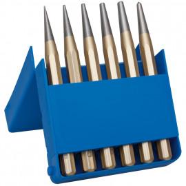 Durchtreibersatz, Chrom - Vanadium-Stahl, 6-teilig, Länge 120 mm, Ø 1 bis 5 mm