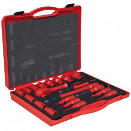 VDE Steckschlüsselsatz, 20-teilig, in Kunststoffbox