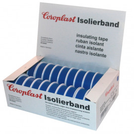 Coroplast Box PVC Isolierband Breite 15 mm, Länge 10 m Farbe blau Inhalt 20 Stück
