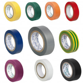PVC Isolierband, PROFI 150, Breite 15 mm, Länge 10 m Farbe gemischt - 11 Stück