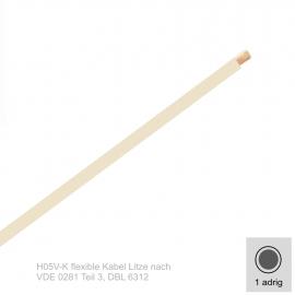 0,5 mm² einadrig H05V-K Leitung Farbe Weis 10 Meter Bund