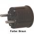 Winkel Stecker braun Thermoplast schlagfest mit Zugentlastung, 250V / 16A, VDE